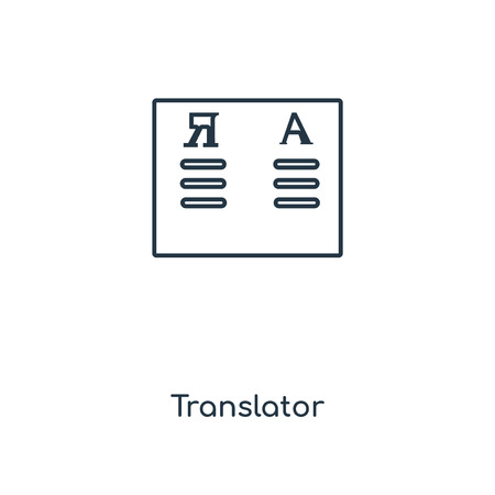 Translator concept line icon. Linear Translator concept outline symbol design. This simple element illustration can be used for web and mobile UIUX.