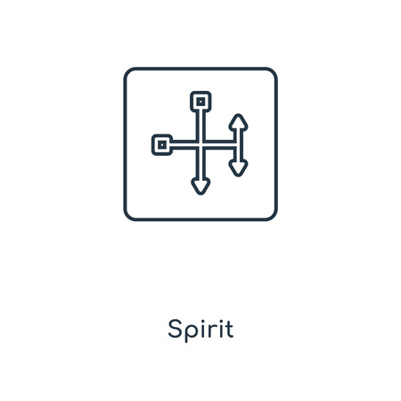 Spirit concept line icon. Linear Spirit concept outline symbol design. This simple element illustration can be used for web and mobile UI/UX.