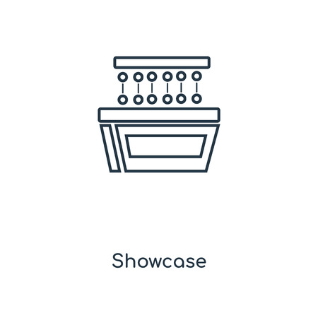 Showcase concept line icon. Linear Showcase concept outline symbol design. This simple element illustration can be used for web and mobile UI/UX.