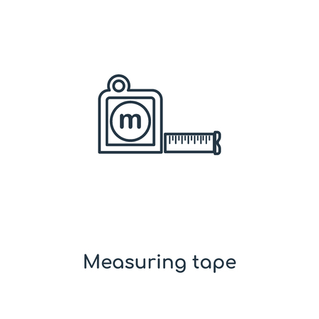 Measuring tape concept line icon. Linear Measuring tape concept outline symbol design. This simple element illustration can be used for web and mobile UI/UX.