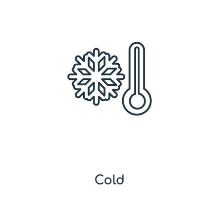 Kaltes Konzept Symbol Leitung. Lineares kaltes Konzept skizzieren Symboldesign. Diese einfache Elementillustration kann für Web- und mobile UI/UX verwendet werden. Vektorgrafik