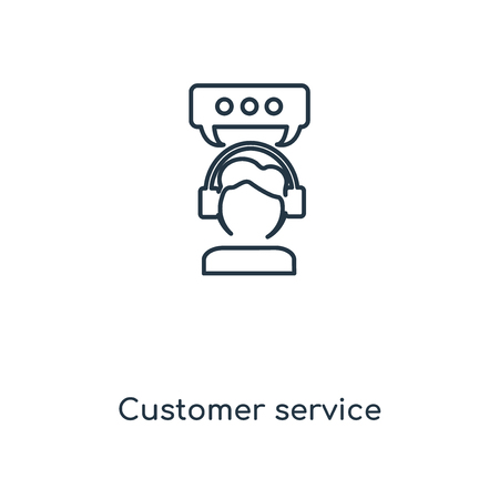 Customer service concept line icon. Linear Customer service concept outline symbol design. This simple element illustration can be used for web and mobile UI/UX.
