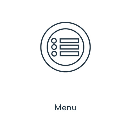 Menu concept line icon. Linear Menu concept outline symbol design. This simple element illustration can be used for web and mobile UI/UX. Banque d'images - 111407356