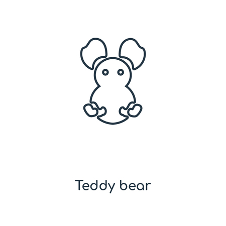Teddy bear concept line icon. Linear Teddy bear concept outline symbol design. This simple element illustration can be used for web and mobile UI/UX.