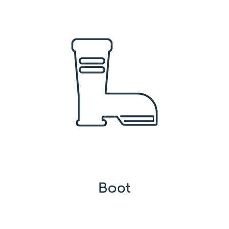 Boot concept line icon. Linear Boot concept outline symbol design. This simple element illustration can be used for web and mobile UI/UX.