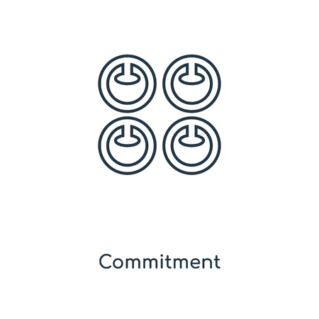 Commitment concept line icon. Linear Commitment concept outline symbol design. This simple element illustration can be used for web and mobile UI/UX.