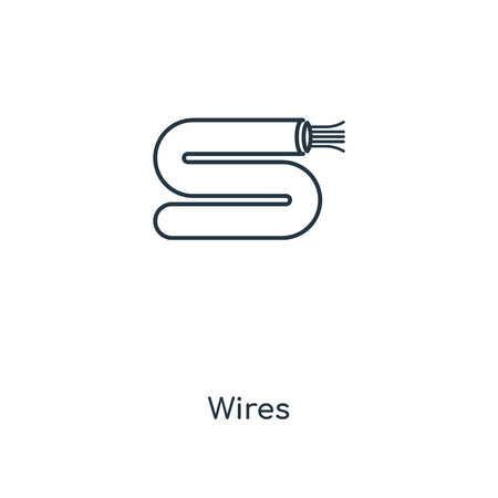 Wires concept line icon. Linear Wires concept outline symbol design. This simple element illustration can be used for web and mobile UI/UX.