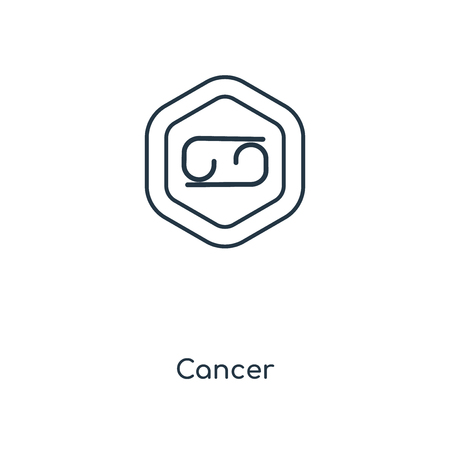 Cancer concept line icon. Linear Cancer concept outline symbol design. This simple element illustration can be used for web and mobile UI/UX. Çizim