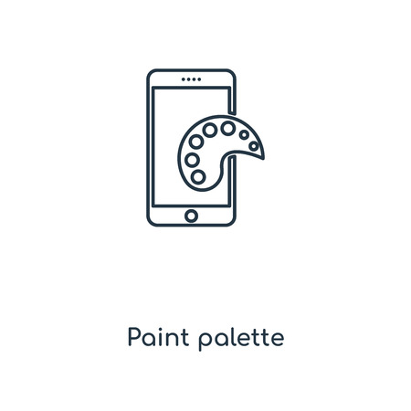 Paint palette concept line icon. Linear Paint palette concept outline symbol design. This simple element illustration can be used for web and mobile UI/UX.