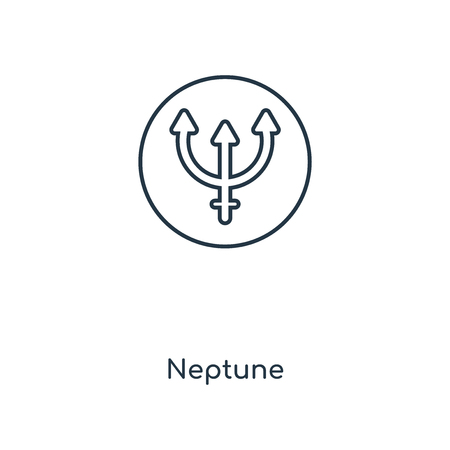 Neptune concept line icon. Linear Neptune concept outline symbol design. This simple element illustration can be used for web and mobile UIUX.