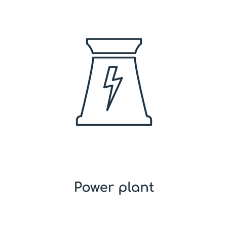Power plant concept line icon. Linear Power plant concept outline symbol design. This simple element illustration can be used for web and mobile UIUX.
