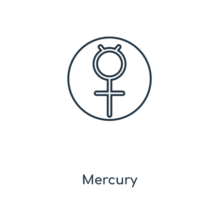 Mercury concept line icon. Linear Mercury concept outline symbol design. This simple element illustration can be used for web and mobile UI/UX.