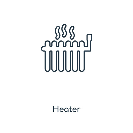Heater concept line icon. Linear Heater concept outline symbol design. This simple element illustration can be used for web and mobile UIUX. Stock Illustratie