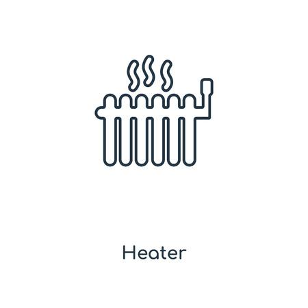 Kachel concept lijn pictogram. Lineaire kachel overzicht symbool conceptontwerp. Deze eenvoudige elementillustratie kan worden gebruikt voor web- en mobiele UI/UX. Vector Illustratie