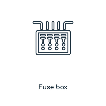 239 electrician fuse stock illustrations cliparts and royalty fuse box concept line icon linear fuse box concept outline symbol design this simple