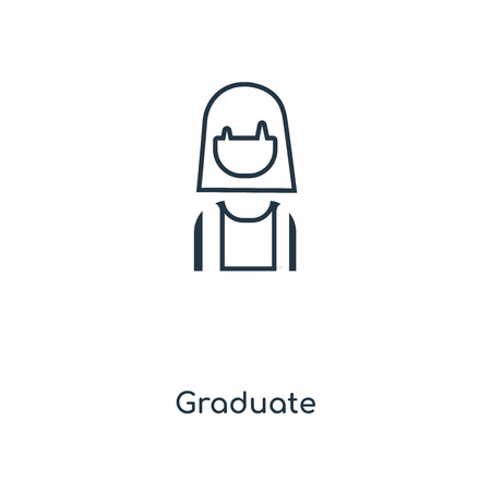 Graduate concept line icon. Linear Graduate concept outline symbol design. This simple element illustration can be used for web and mobile UI/UX.