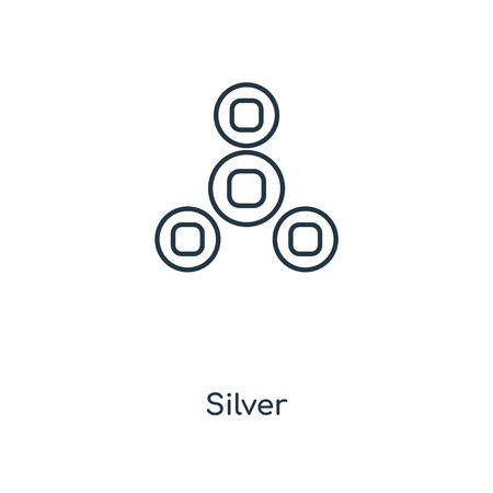 Silver concept line icon. Linear Silver concept outline symbol design. This simple element illustration can be used for web and mobile UI/UX.