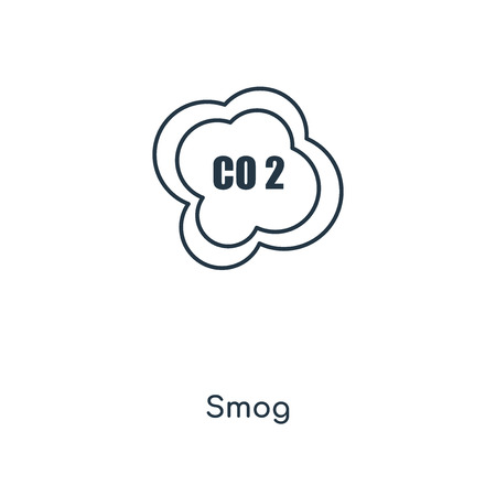 Smog concept line icon. Linear Smog concept outline symbol design. This simple element illustration can be used for web and mobile UIUX.