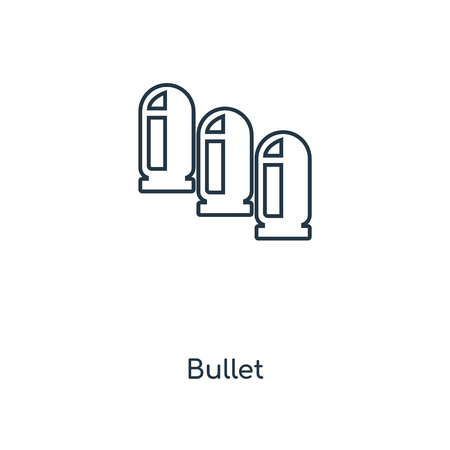 Bullet concept line icon. Linear Bullet concept outline symbol design. This simple element illustration can be used for web and mobile UI/UX.