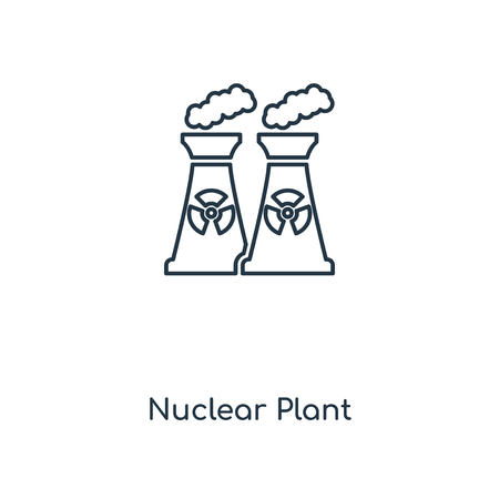 Nuclear Plant concept line icon. Linear Nuclear Plant concept outline symbol design. This simple element illustration can be used for web and mobile UIUX.
