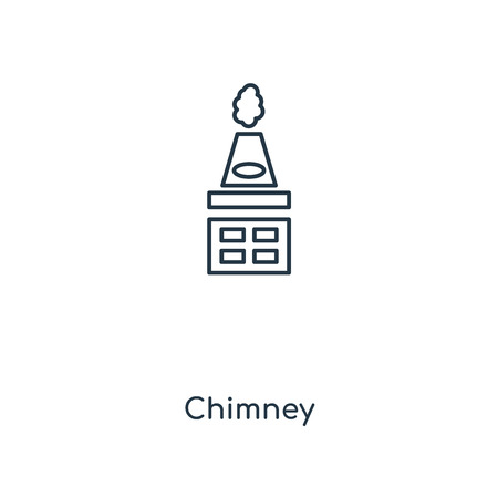 Chimney concept line icon. Linear Chimney concept outline symbol design. This simple element illustration can be used for web and mobile UIUX.