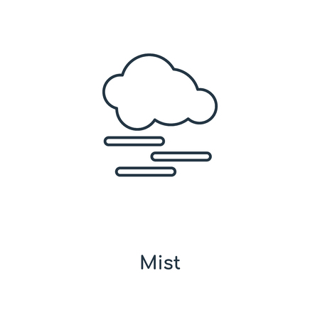 Mist concept line icon. Linear Mist concept outline symbol design. This simple element illustration can be used for web and mobile UIUX.