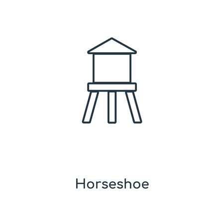 Horseshoe concept line icon. Linear Horseshoe concept outline symbol design. This simple element illustration can be used for web and mobile UI/UX.