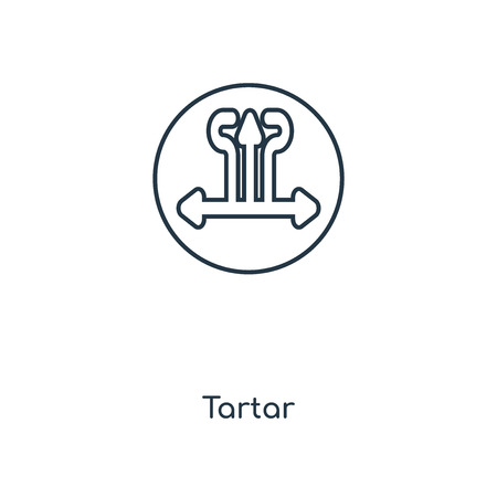Tartar concept line icon. Linear Tartar concept outline symbol design. This simple element illustration can be used for web and mobile UI/UX. Vettoriali