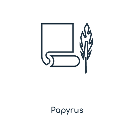 Papyrus concept line icon. Linear Papyrus concept outline symbol design. This simple element illustration can be used for web and mobile UI/UX. Foto de archivo - 113551180