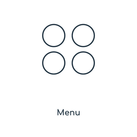 Menu concept line icon. Linear Menu concept outline symbol design. This simple element illustration can be used for web and mobile UI/UX.