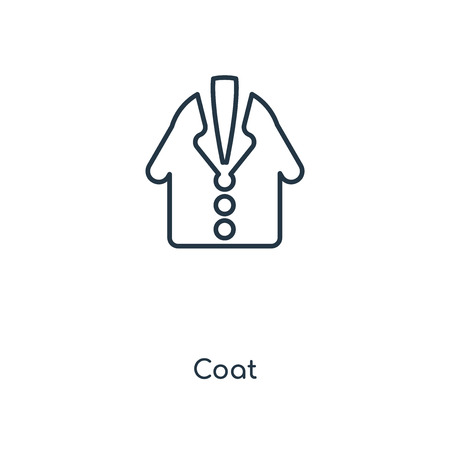 Coat concept line icon. Linear Coat concept outline symbol design. This simple element illustration can be used for web and mobile UI/UX.