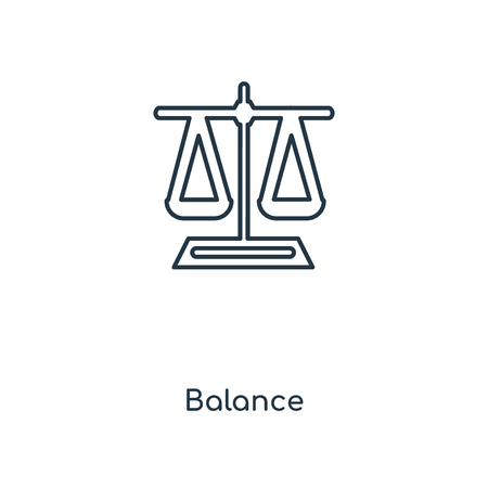 Balance concept line icon. Linear Balance concept outline symbol design. This simple element illustration can be used for web and mobile UI/UX. Illusztráció