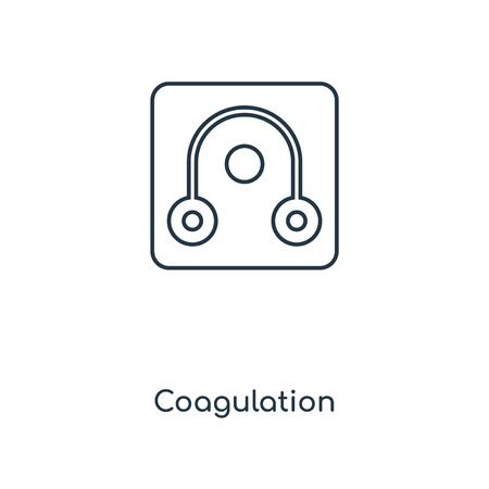 Coagulation concept line icon. Linear Coagulation concept outline symbol design. This simple element illustration can be used for web and mobile UI/UX.
