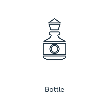 Bottle concept line icon. Linear Bottle concept outline symbol design. This simple element illustration can be used for web and mobile UI/UX.