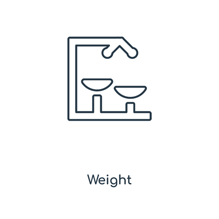 Weight concept line icon. Linear Weight concept outline symbol design. This simple element illustration can be used for web and mobile UI/UX. Illusztráció