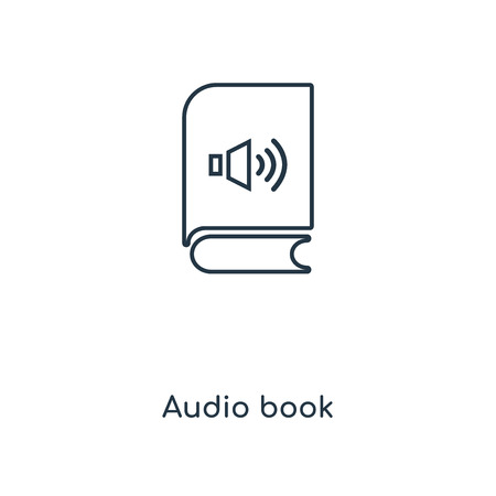 Audio book concept line icon. Linear Audio book concept outline symbol design. This simple element illustration can be used for web and mobile UI/UX.