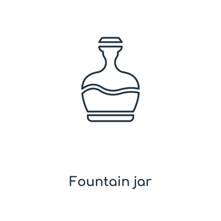 Fountain jar concept line icon. Linear Fountain jar concept outline symbol design. This simple element illustration can be used for web and mobile UI/UX.