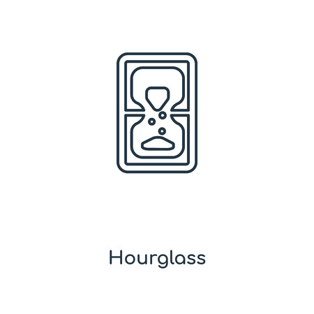 Hourglass concept line icon. Linear Hourglass concept outline symbol design. This simple element illustration can be used for web and mobile UI/UX.