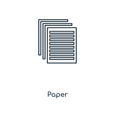 Paper concept line icon. Linear Paper concept outline symbol design. This simple element illustration can be used for web and mobile UI/UX.