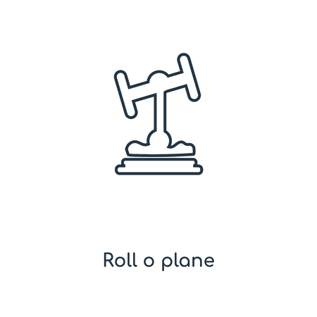 Roll o plane concept line icon. Linear Roll o plane concept outline symbol design. This simple element illustration can be used for web and mobile UI/UX. Ilustrace