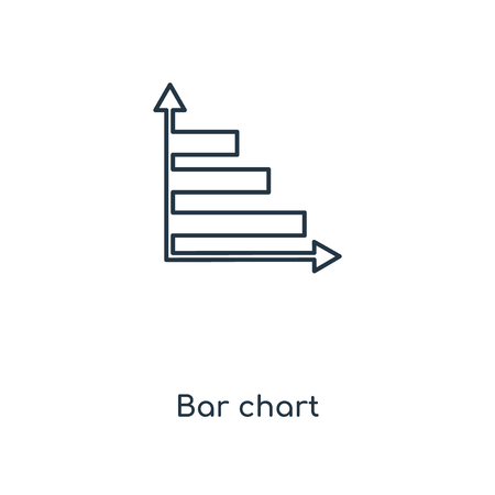 Bar chart concept line icon. Linear Bar chart concept outline symbol design. This simple element illustration can be used for web and mobile UI/UX.