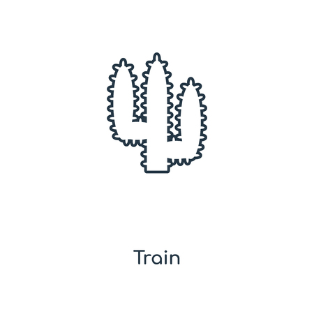 Train concept line icon. Linear Train concept outline symbol design. This simple element illustration can be used for web and mobile UIUX.