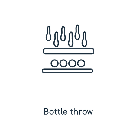 Bottle throw concept line icon. Linear Bottle throw concept outline symbol design. This simple element illustration can be used for web and mobile UI/UX.