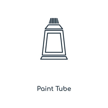 Paint Tube concept line icon. Linear Paint Tube concept outline symbol design. This simple element illustration can be used for web and mobile UI/UX.