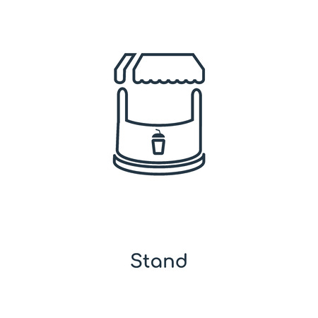 Stand concept line icon. Linear Stand concept outline symbol design. This simple element illustration can be used for web and mobile UI/UX.