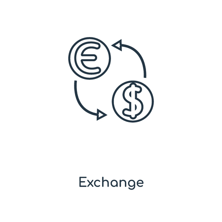Exchange concept line icon. Linear Exchange concept outline symbol design. This simple element illustration can be used for web and mobile UI/UX.