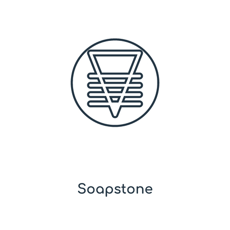 Soapstone concept line icon. Linear Soapstone concept outline symbol design. This simple element illustration can be used for web and mobile UI/UX. Vetores
