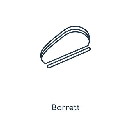 Barrett concept line icon. Linear Barrett concept outline symbol design. This simple element illustration can be used for web and mobile UI/UX. Vektoros illusztráció