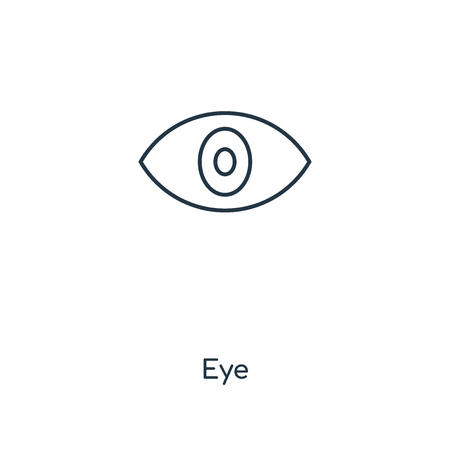 Eye concept line icon. Linear Eye concept outline symbol design. This simple element illustration can be used for web and mobile UI/UX. Stock Vector - 113551519