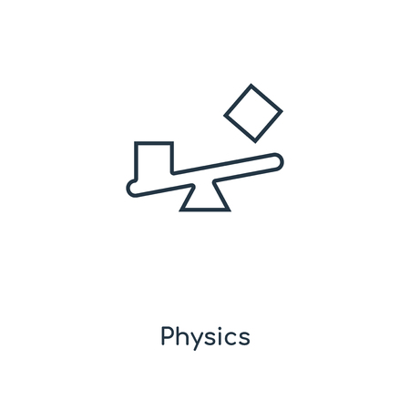 Physics concept line icon. Linear Physics concept outline symbol design. This simple element illustration can be used for web and mobile UIUX.